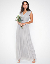 Anaya Gathered Tulle Maxi Dress
