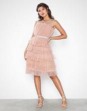 U Collection Flounce Midi Belt Dress