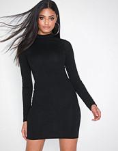 Parisian High Neck Long Sleeve Mini Dress
