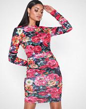 Parisian Rose Rouched Mini Dress