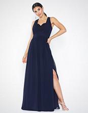 Little Mistress Maxi Chiffon Lace Dress