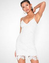 Parisian Lace V Neck Mini Dress