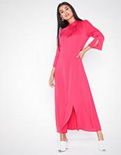 Closet High Neck Front Slit Dress