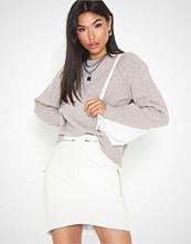 Missguided Curved Hem Zip Mini Skirt