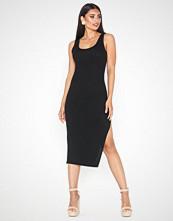 Parisian Thigh Split Bodycon Midi Dress