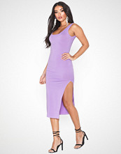 Parisian Thigh Split Bodycon Midi Dress