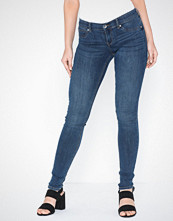 Gina Tricot Skinny low waist superstretch jeans Blå