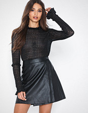 Selected Femme Slflina Mw Wrap Leather Skirt W