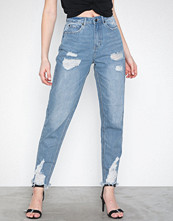 Missguided Riot Distress Waisted Mom Jeans