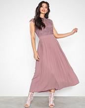 Little Mistress Midaxi Corchet Pleat Dress