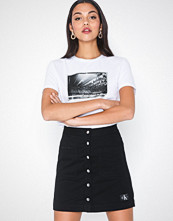 Calvin Klein Cotton Twill Mini Skirt