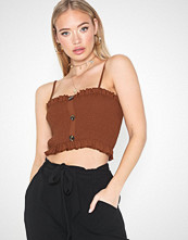 Missguided Sheered Horn Button Cami Top