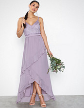 Little Mistress Maxi Lace Chiffon Dress