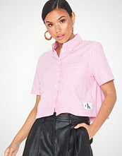 Calvin Klein Cropped Ss Oxford Shirt