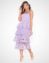 True Decadence Frill Lace Midi Dress