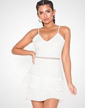 Parisian Lace Crochet Hem Mini Dress