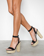 NLY Shoes Braided Plateau Heel