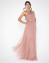 Anaya One Shoulder Gathered Tulle Maxi Dress