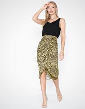 Missguided Animal Print Midi Skirt