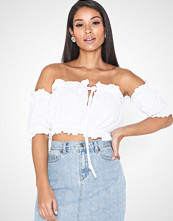 Missguided Milkmaid Bardot Crop Top