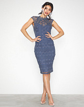 Little Mistress Knee Length Crochet Trim Dress