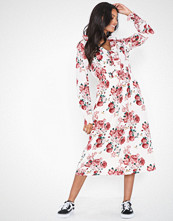 Vero Moda Vmane L/S Calf Fril Dress Exp