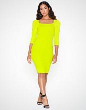 River Island Poppy Rib Mini Dress Lime