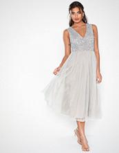 Maya V-Neck Sequin Midi Dress