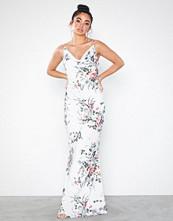 Missguided Floral Drape Neck Maxi Dress