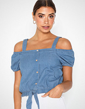 Jacqueline de Yong Jdykelly Cropped Cold Shoulder Top