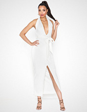 Missguided Plunge Neck Belted Midi Dress