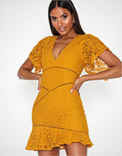 Love Triangle Stay Gold Mini Dress
