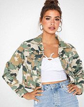 Lee Jeans Cropped Rider Jacket Camouflage