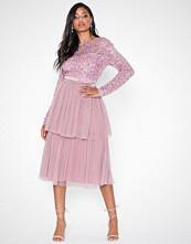 Maya Waist Band Sequin Dress