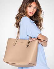 Coach Polished Pebble Leather Central Tote With Zip