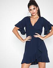 Ax Paris Short Sleeve Frill Dress