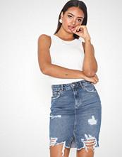 Gina Tricot Destroy Denim Skirt