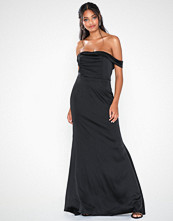 Missguided Satin Bardot Maxi Dress