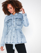Vero Moda Vmolivia Ls Belted Long Denim Jacke