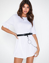 Missguided Smock Dress Frill Sleeve