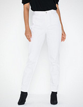 Pieces Pcleah Mom Hw Ank White Jeans-Ba