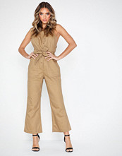 Missguided Dungaree Asym Jumpsuit