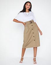 Only Onlkate Hw Belted Midi Skirt Pnt
