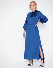 Closet Midi Sleeve Satin Dress