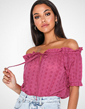 NLY Trend Embroidery Off Shoulder Top