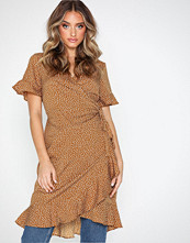 Vero Moda Vmhenna 2/4 Wrap Frill Dress Exp