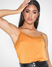 Vila Vicava Lace Singlet - Noos Orange