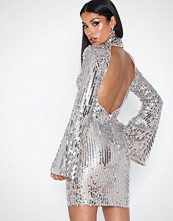 Rare London Sequin Open Back Dress