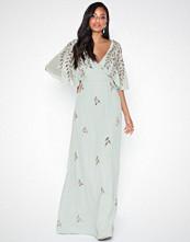 Maya Wrap Embellished Maxi Dress