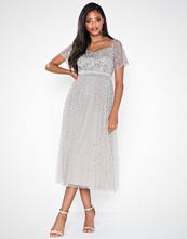 Maya Embellished Bardot Mini Dress